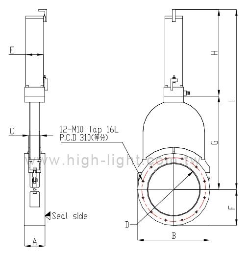 Aluminum vacuum gate valve